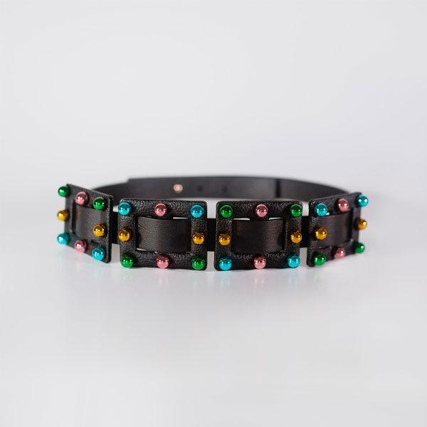 Cinturón Negro - Multicolor Carmen Berdonces