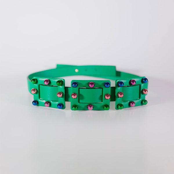 Cinturón Verde Multicolor Carmen Berdonces